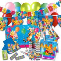 Großes Kindergeburtstag Party Dekoset Winnie Pooh.